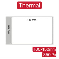 LABEL BARCODE 100 X 150 mm KERTAS STICKER DIRECT THERMAL 100x150 350pc