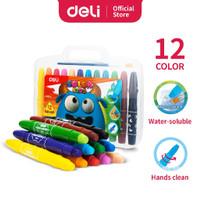 Deli Color Kids Gel Crayon 12 Warna. Krayon