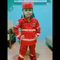 baju anak profesi pemadam kebakaran