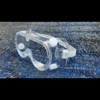 Kacamata google bening/ kacamata medis anti fog bahan polycarbonate