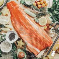 Ikan Salmon Fillet SEGAR Premium (100% Norwegian Salmon) Sashimi Grade