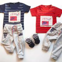 Nikee Air Jordan Suit / Setelan Bayi Laki-laki Murah / Baju Bayi Cowo