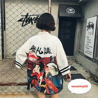 baju kimono jepang loose happi 08 fashion wanita cewek perempuan cowok