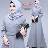 Baju Gamis Wanita   Gamis Quenby Shofiya   Grey