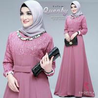 Baju Gamis Wanita   Gamis Quenby Shofiya   Salem