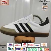 Sepatu Sneakers Casual Adidas Samba OG White List Black Original BNWB