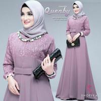 Baju Gamis Wanita   Gamis Quenby Shofiya   Lavender
