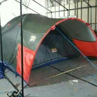tenda dome /tenda camping ukuran 3x3 doble layer bahan parasit