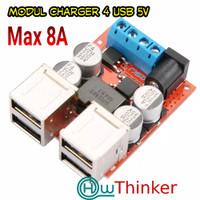 Charger Step Down 8-35v Aki 9V 12V 24V to USB DC 5V 8A 4 PORT