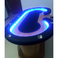 Meja Poker LED light bisa di tutup / poker table / meja poker custom