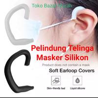 Pelindung masker telinga silikon / pereda sakit telinga masker