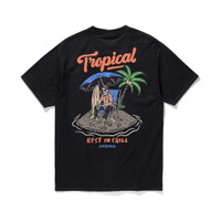 TROPICAL BLACK T-SHIRT (Kaos Livefolk Ltd)
