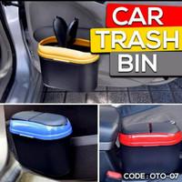 Tong Kotak Tempat Sampah Mobil Mini Samping Jepit Selip Pintu