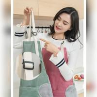Beli AT086 Apron Celemek Waterproof Oil Proof with Towel Tebal Fashion