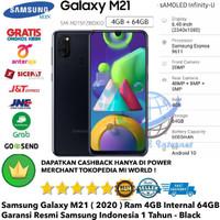 Samsung Galaxy M21 4GB/64GB 4/64GB M 21 64-Grs-Resmi-Sein-black-Hitam