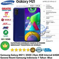Samsung Galaxy M21 4GB/64GB 4/64GB M 21 4/64-Grs-Resmi-Sein-Biru-Blue