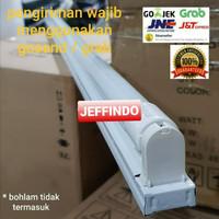 KAP LAMPU KHUSUS LED TL T8 18W 120CM BAHAN BESI - Housing 120 Cm