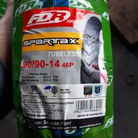 Ban Luar FDR Spartax 90/90 Tubeless Ring 14 Free Pentil
