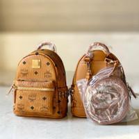 MCM Bebeboo mini backpack cognac AUTHENTIC