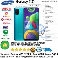 Samsung Galaxy M21 4GB/64GB 4/64GB M 21 64-Grs-Resmi-Sein-Green-Hijau
