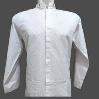 Baju Koko Dewasa Tangan Panjang Putih