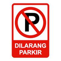 Rambu Dilarang Parkir 35x50cm (Include lubang)