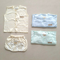 CHIYO Setelan Baju Kutung Celana Pop / Baju Bayi 0-3 bln - Classic New
