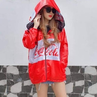 Jaket dan masker coca cola pepsi jaket anti corona masker baju apd