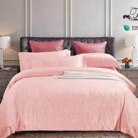 Bedcover Set Seprai bahan SUTRA TENCEL ORI BUKAN ABAL warna-SOFT PINK