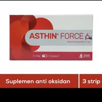 asthin force 6mg suplemen anti oksidan 1 strip 6 tablet