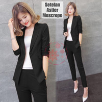 Baju Setelan Wanita kantoran, Blazer Aster Casual
