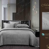 Bedcover Set Seprai bahan Asli Sutra Tencel warna-ABU-ABU