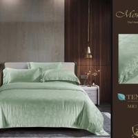 Bedcover Set Seprai bahan Sutra Tencel Asli Sutra warna-Hijau Mint