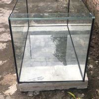 Aquarium tempahan ukuran 100x50x50 kaca 5 ml