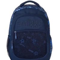 Smiggle Backpack Soccer Blue Navy Original Tas Anak SD Size L Asli