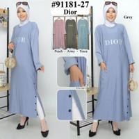 Baju muslim wanita longtunik 91181.27 dior kancing