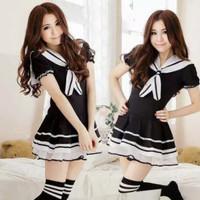Seifuku seragam sekolah jepang baju lolita cosplay