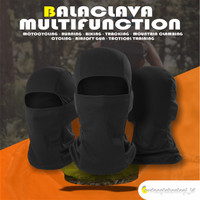 Masker BUFF Motor Balaclava | MASKER SEPEDA OUTDOOR DRYFIT 3 PASANG