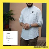 BAJU KOKO KEMEJA-KEMKO SAMASE ORIGINAL UK M-XL BAHAN KATUN SOLID 4 WRN