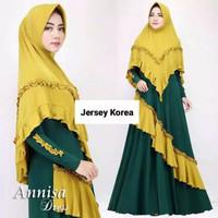 Gamis jersey REMPEL ANISA (non hijab)/Gamis murah/baju muslim/baju cew