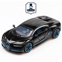 Bugatti Chiron 1:32 mobil sport mainan, pajangan, koleksi, die cast