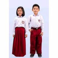 Setelan Baju Seragam SD Panjang Anak Laki-laki dan Perempuan