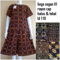 Setelan Baju Celana Tidur Gogo Sogan 01 Rayon Cap Nyaman Buat Harian