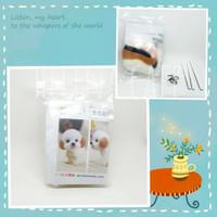 DIY Kit boneka wool felt lucu Bahan untuk craft kerajinan - puppie