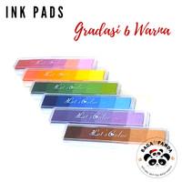 Bak Cap Gradasi 6 Warna/ Bak Stempel / Ink Pad / Stamp Pad Warna Warni