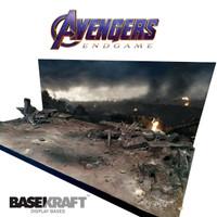 Avengers ENDGAME + LAMPU LED Diorama Base. 1/12