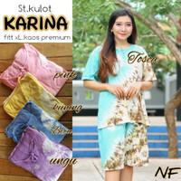 Setelan kulot batik / setelan baju tidur / daster batik kaos / piyama