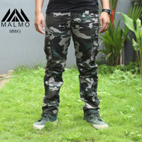 Celana Panjang Cargo Kargo Loreng Camo Army Pria Cowo Original XXL BIG