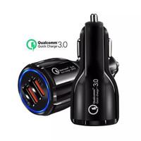 Colokan Charger HP Mobil 2 Port USB Car Charging Qualcomm 3.0 12-24V
