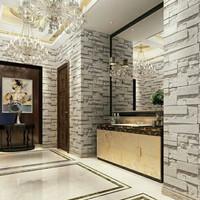 wallpaper stiker motif batu alam putih